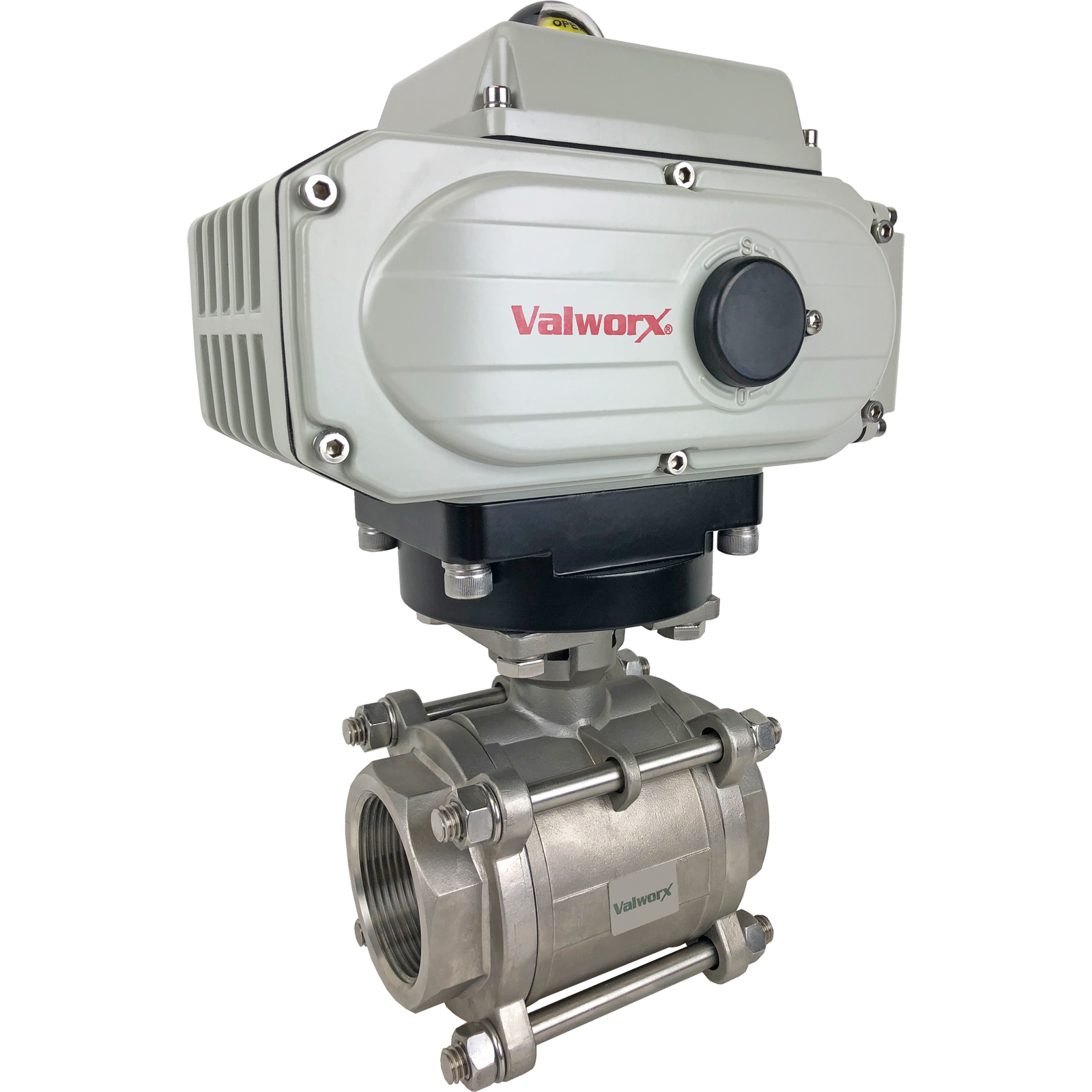 """2-1/2"""" Electric Actuated 3 pc SS Ball Valve 24 VDC"""