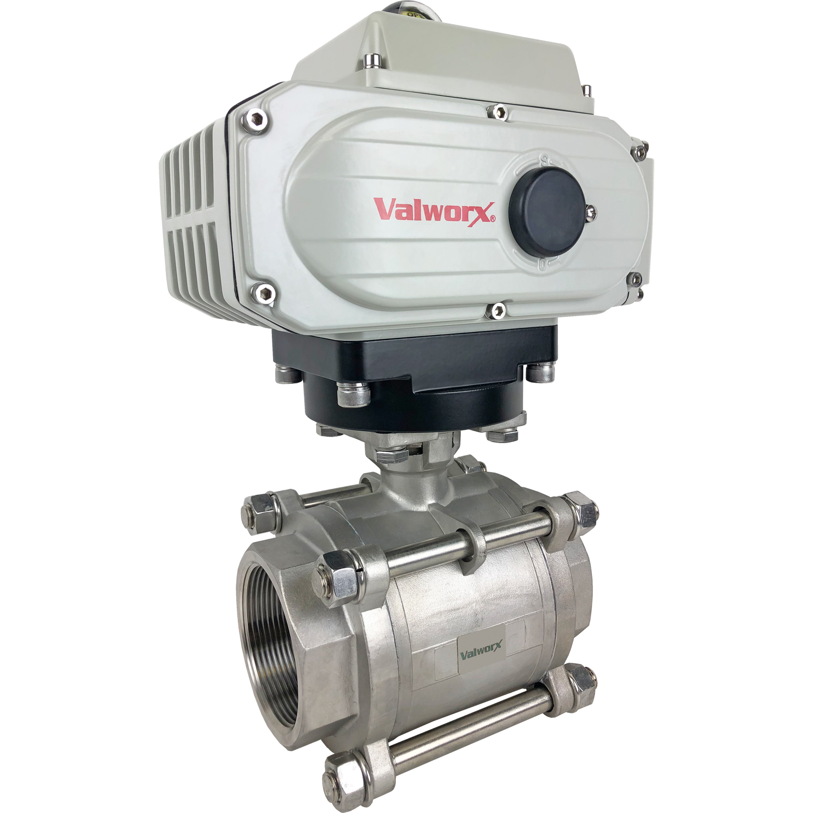 """3"""" Electric Actuated 3 pc SS Ball Valve 110 VAC, EPS Positioner"""