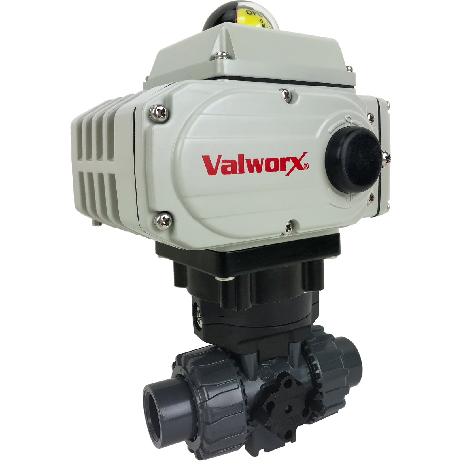 "1/2"" Electric Actuated PVC Ball Valve 110 VAC, EPS Positioner"