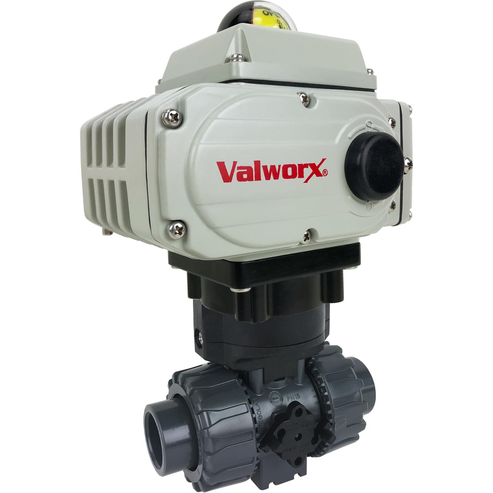 "3/4"" Electric Actuated PVC Ball Valve 110 VAC"