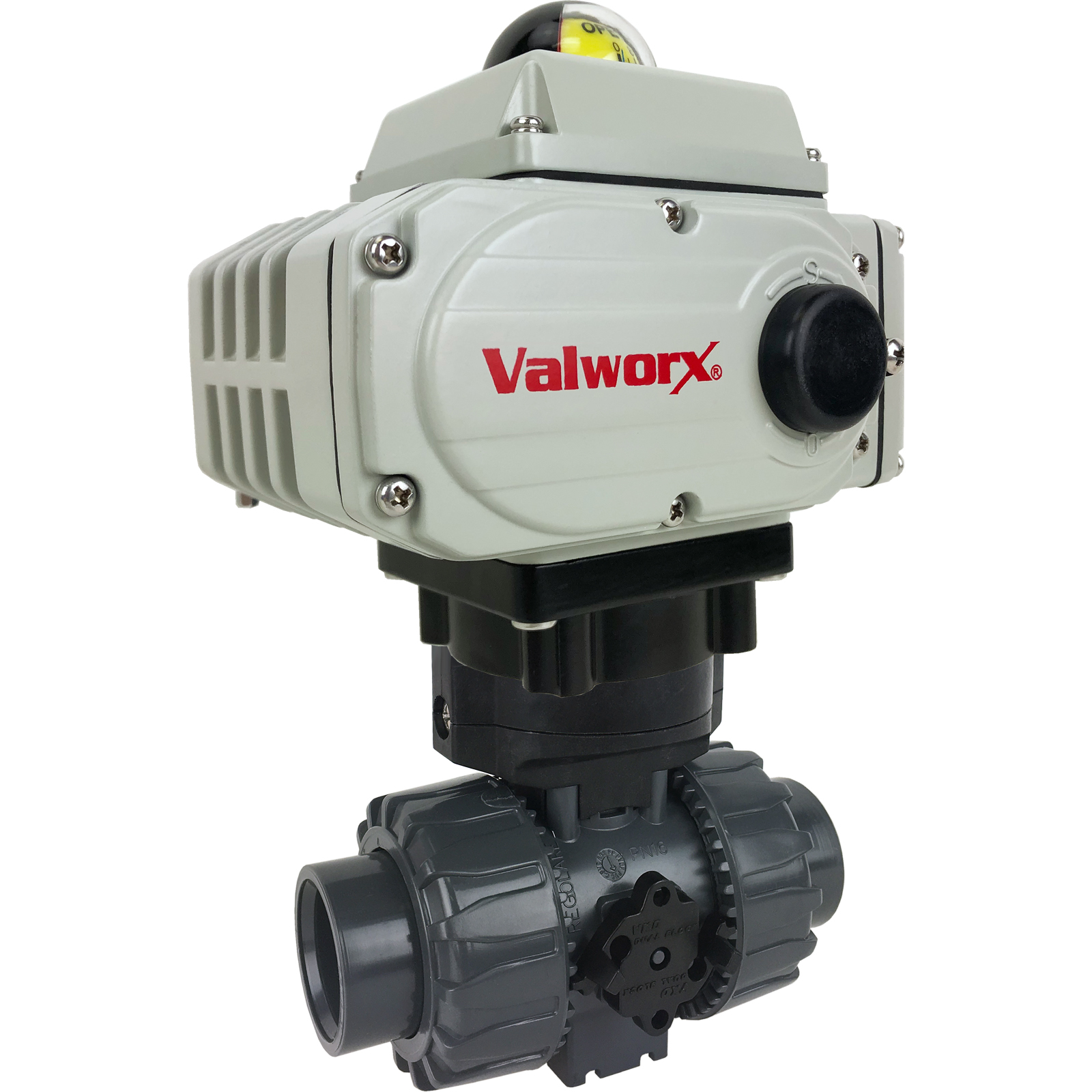 """1"""" Electric Actuated PVC Ball Valve 110 VAC, EPS Positioner"""