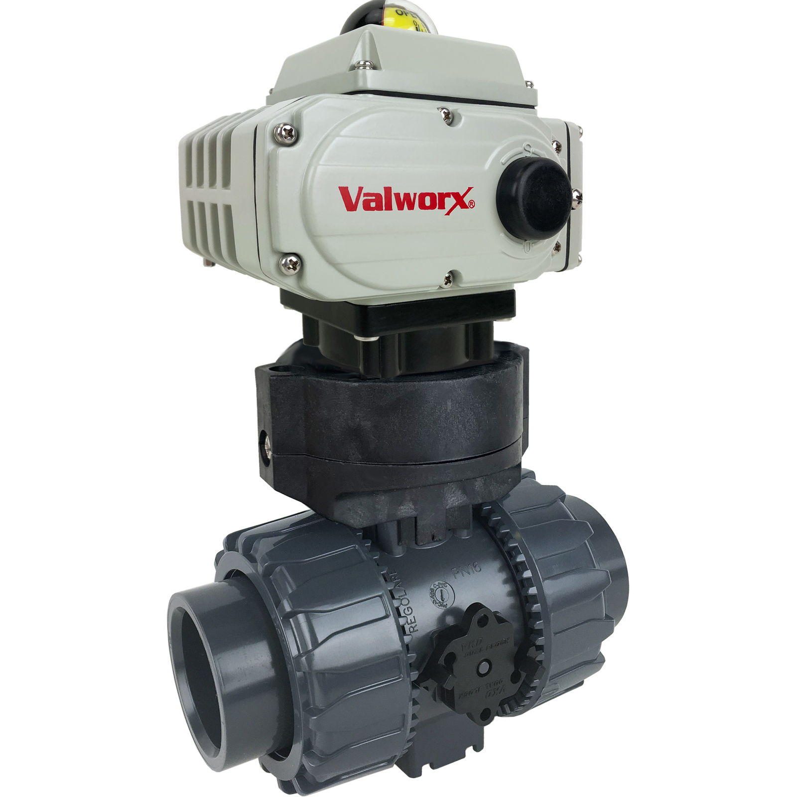 """2"""" Electric Actuated PVC Ball Valve 24 VDC, EPS Positioner"""