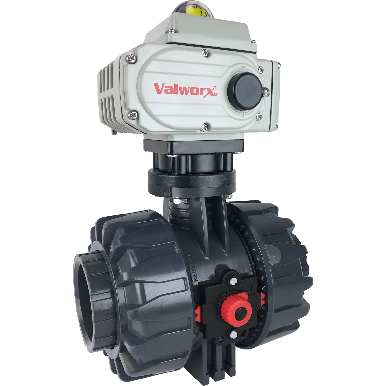 "2-1/2"" Electric Actuated PVC Ball Valve 110 VAC"