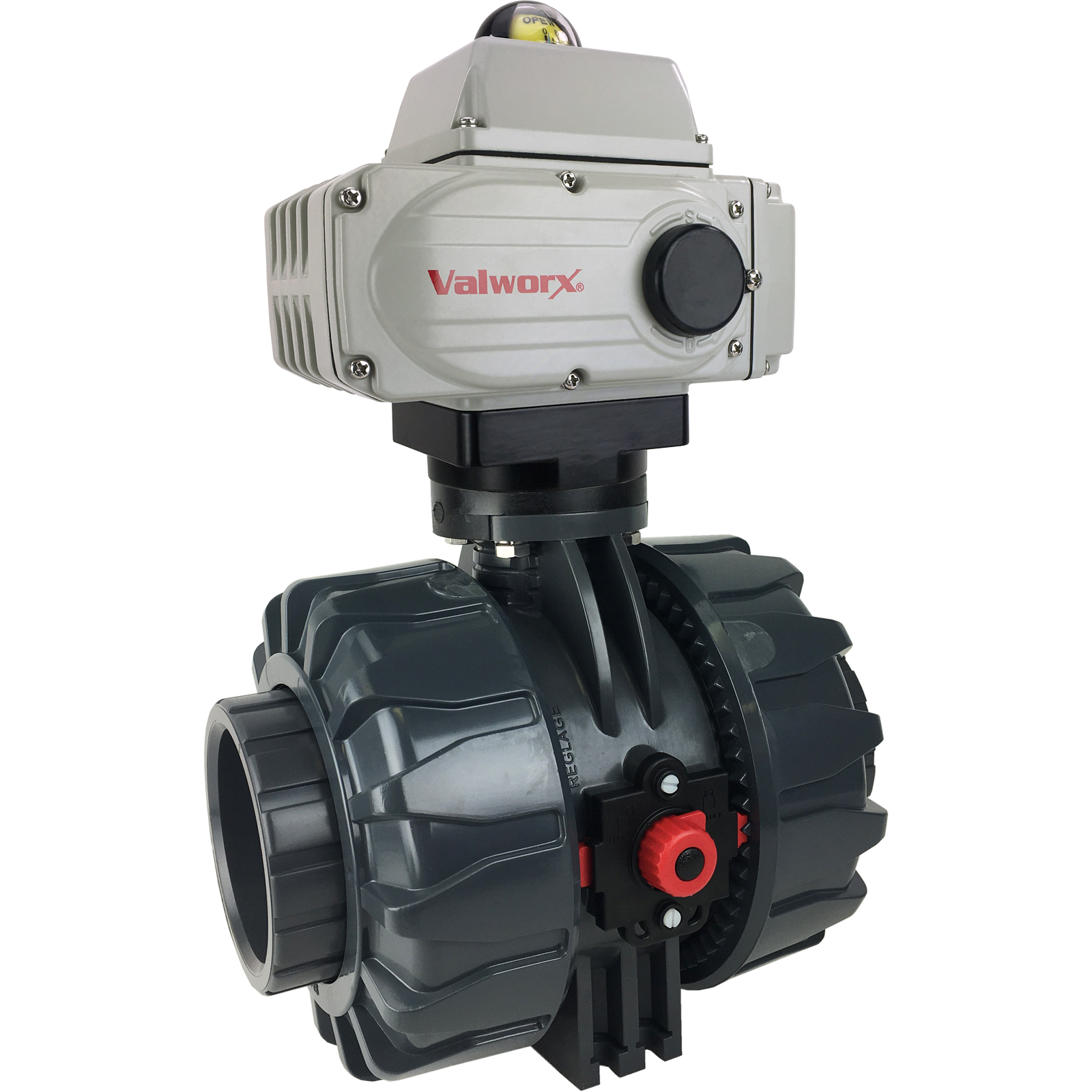 """3"""" Electric Actuated PVC Ball Valve 110 VAC, EPS Positioner"""