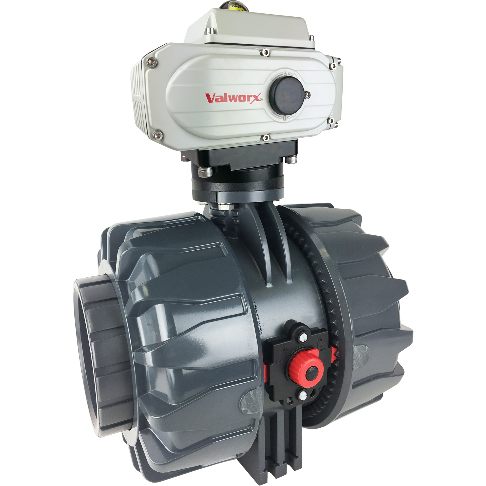 """4"""" Electric Actuated PVC Ball Valve 110 VAC, EPS Positioner"""