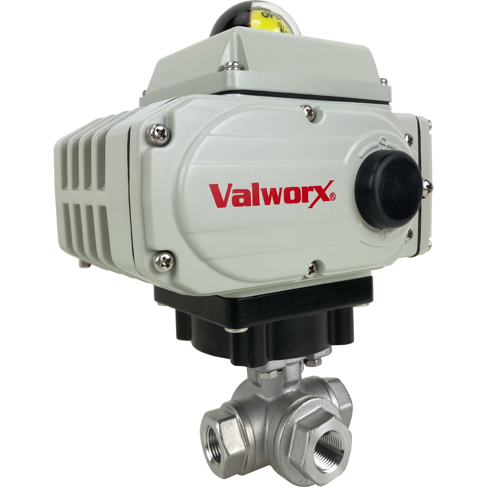 """3/8"""" Electric 3-Way Stainless T-Diverter Valve 110 VAC"""
