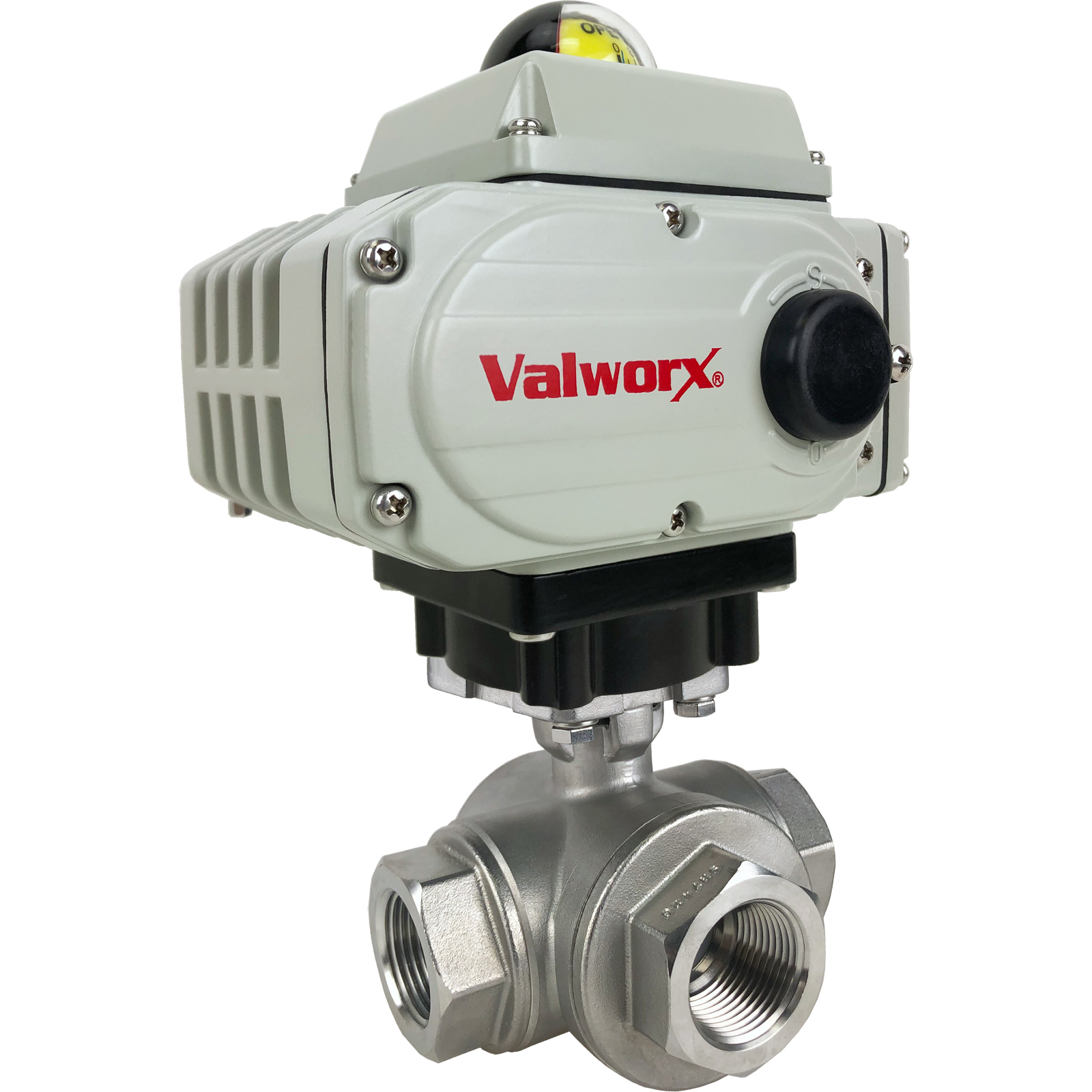 """1"""" Electric 3-Way Stainless T-Diverter Valve 110 VAC"""