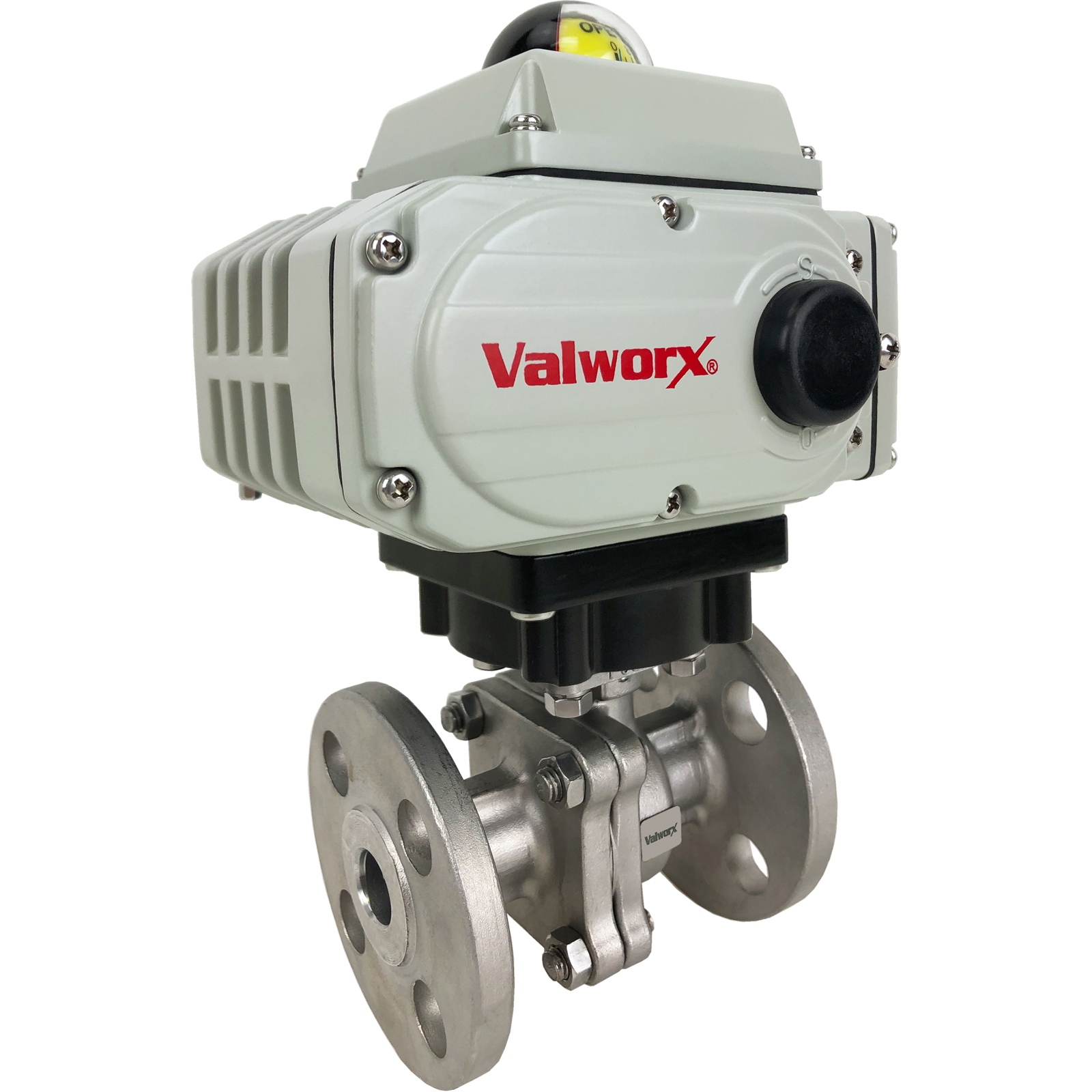 "3/4"" Electric 150# Flanged SS Ball Valve 110 VAC"