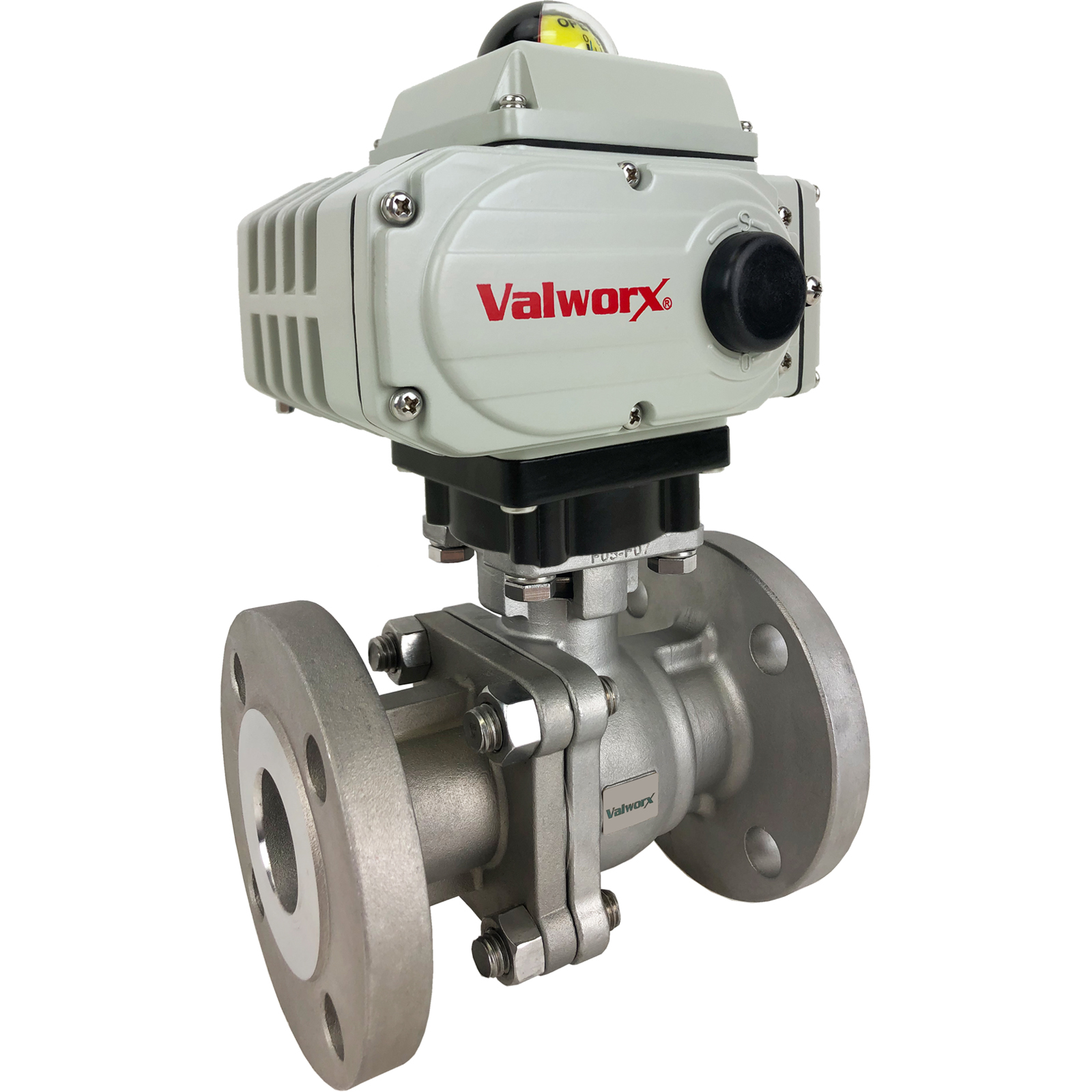 "1-1/2"" Electric 150# Flanged SS Ball Valve 24 VDC, EPS Positioner"