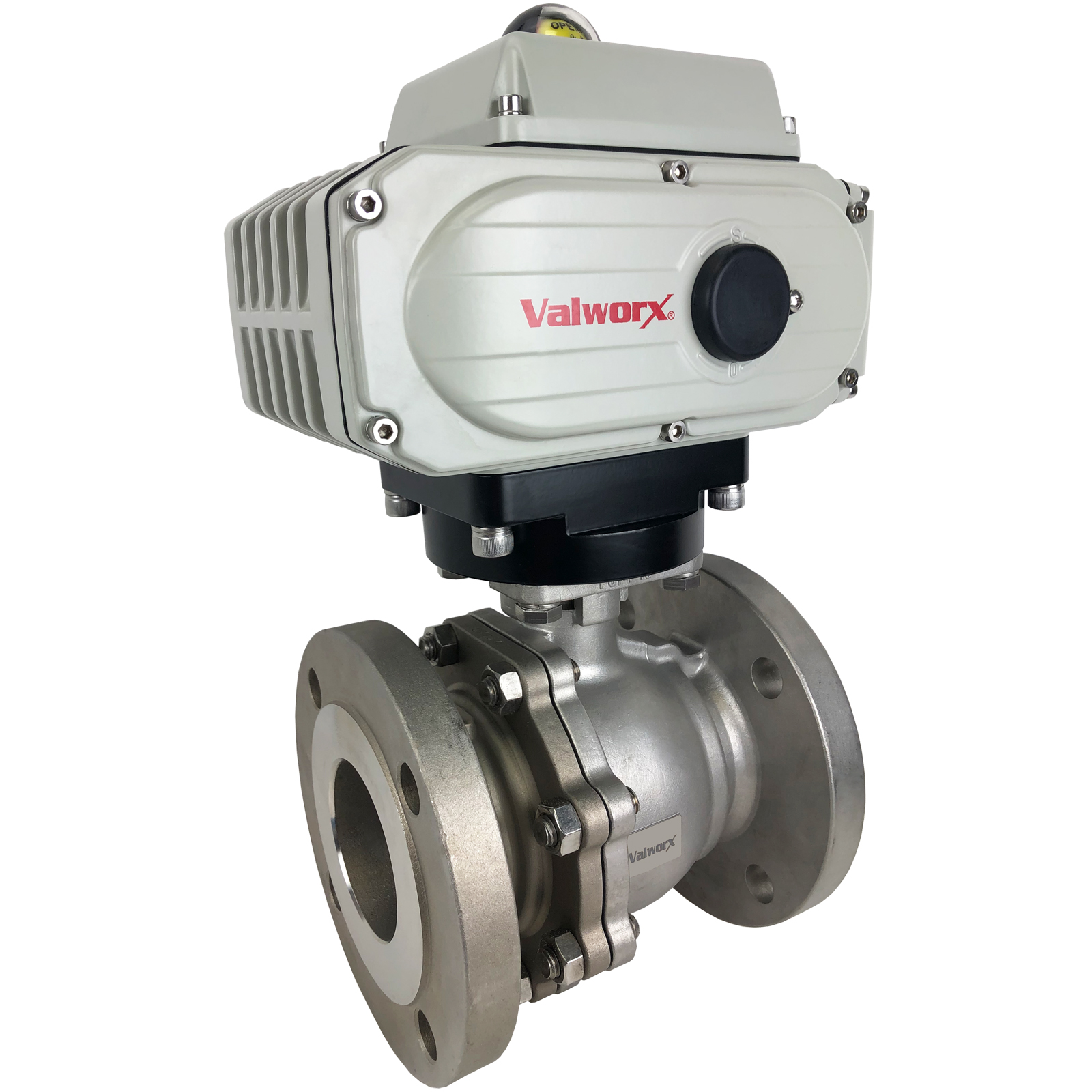 """1/2"""" Electric 150# Flanged SS Ball Valve 110 VAC, EPS Positioner"""