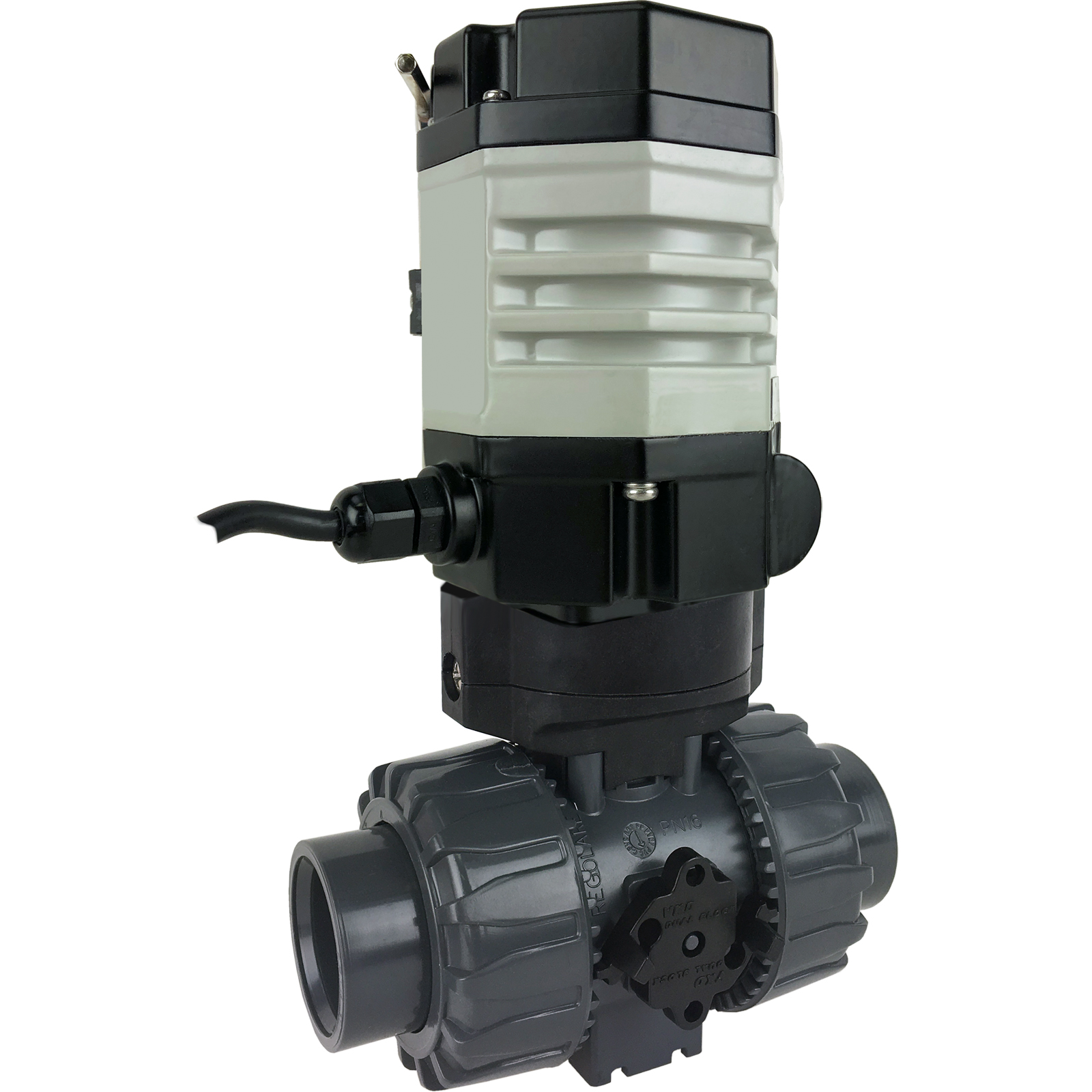 """1"""" Compact Electric Actuated PVC Ball Valve, 110 VAC, EPS Positioner"""