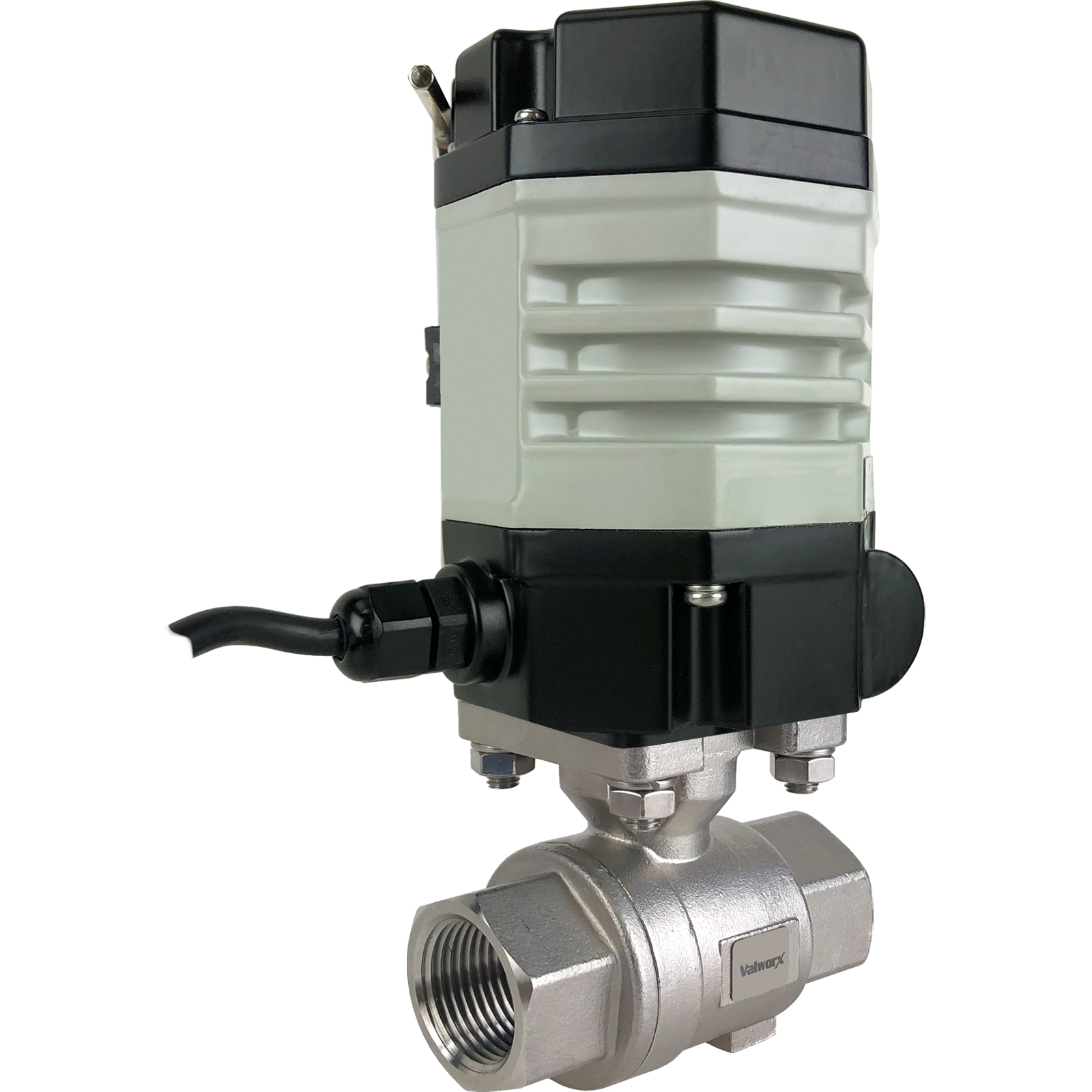 """1"""" Compact Electric Actuated Stainless Ball Valve 110 VAC, EPS Positioner"""