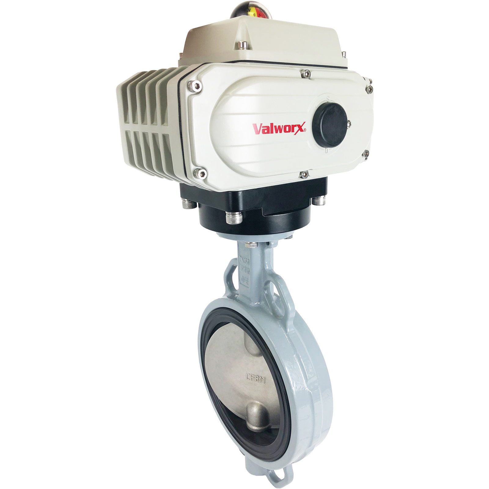 """6"""" Electric Actuated Butterfly Valve, Wafer, NBR, 110 VAC, EPS Positioner"""