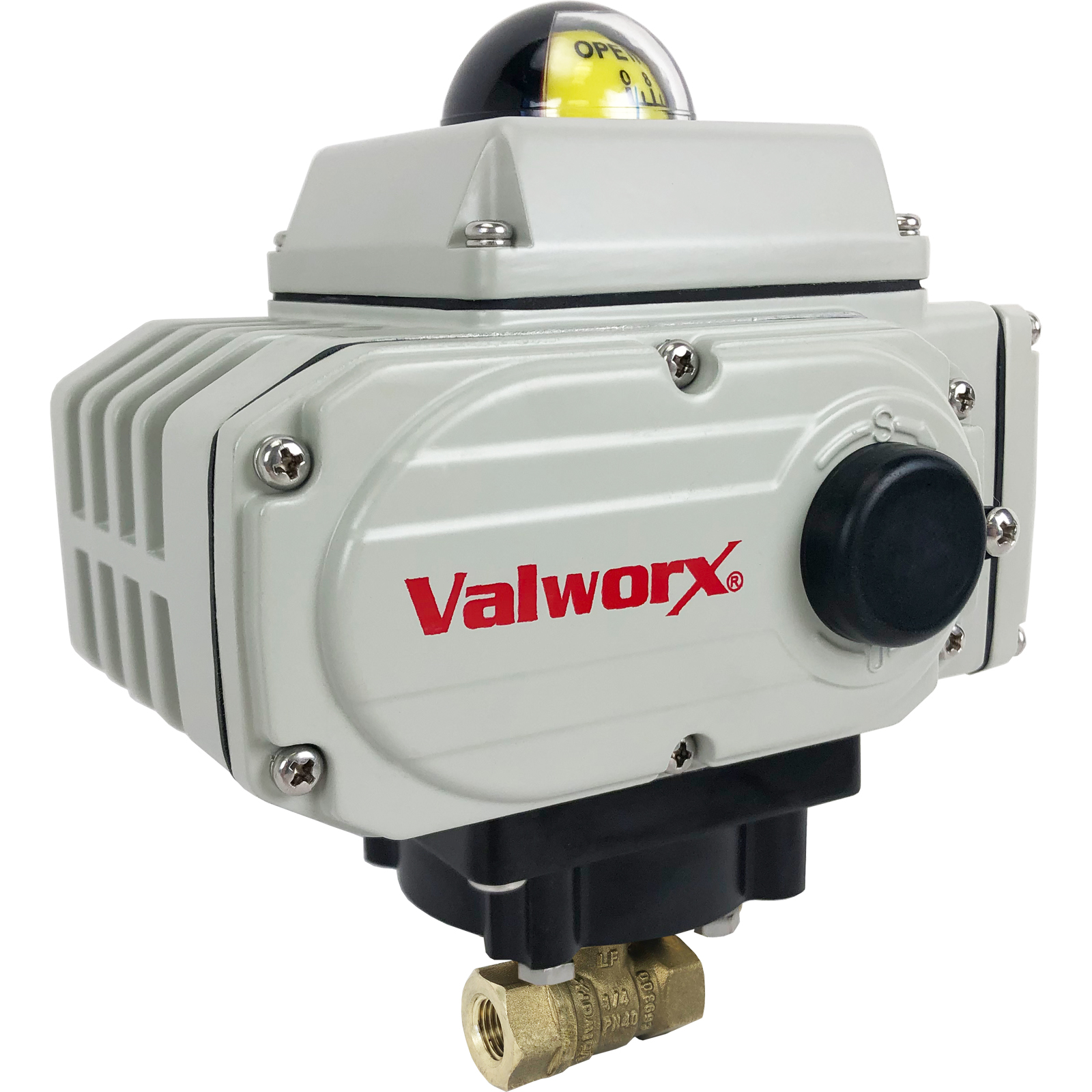"""1/4"""" Electric Actuated Brass Ball Valve 110 VAC, EPS Positioner"""