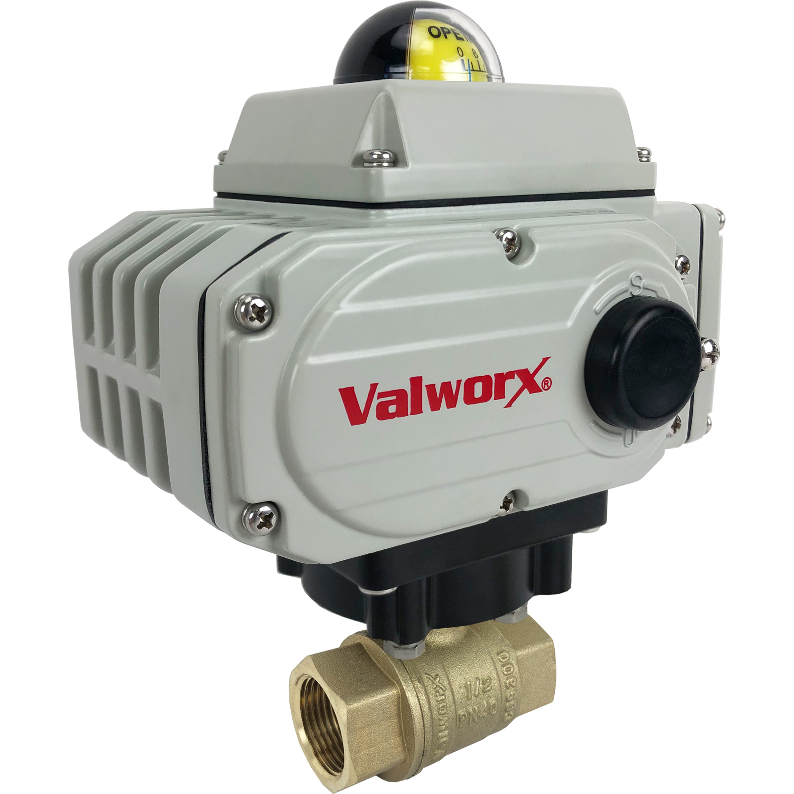 "1/2"" Electric Actuated Brass Ball Valve 24 VDC"