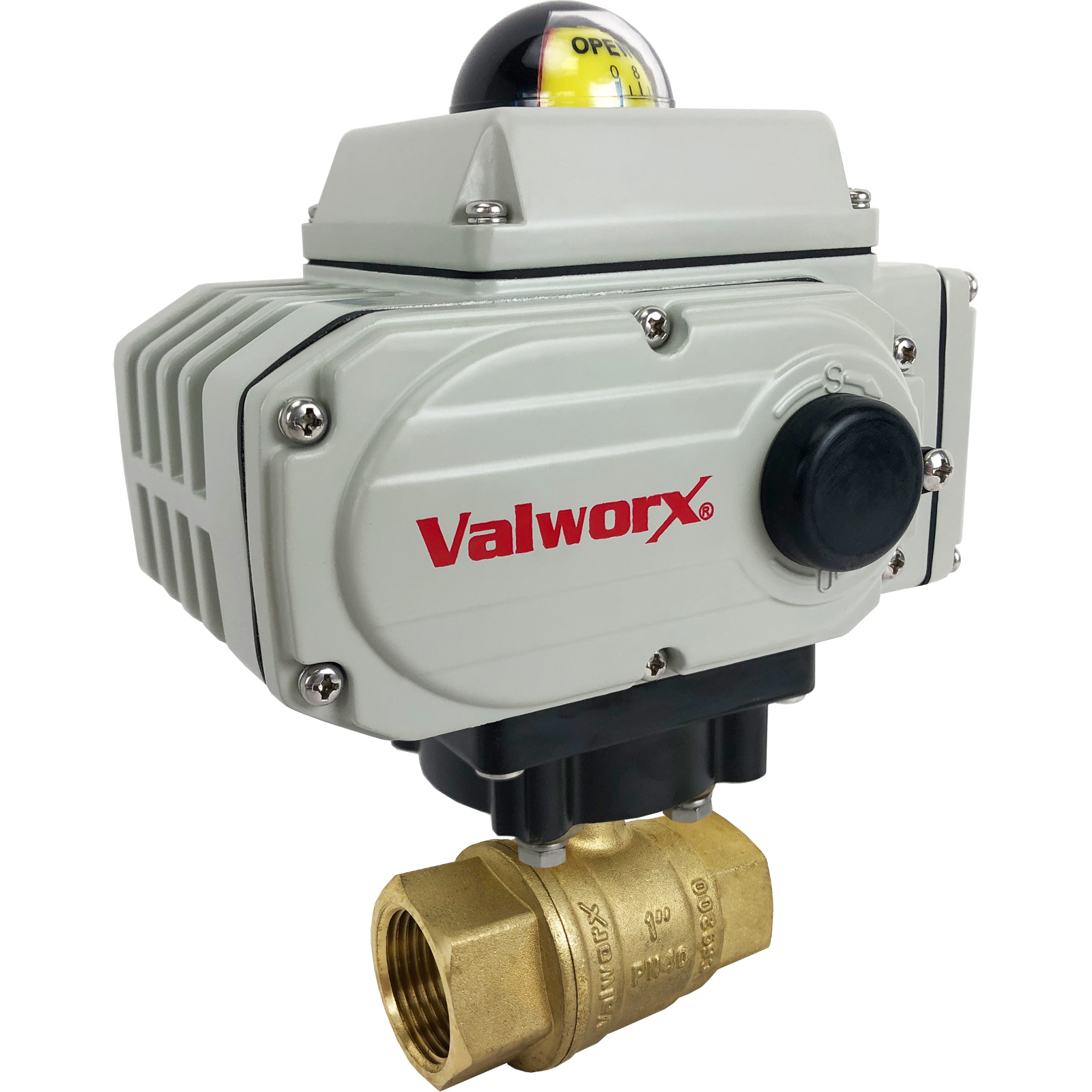 "1"" Electric Actuated Brass Ball Valve 110 VAC, EPS Positioner"
