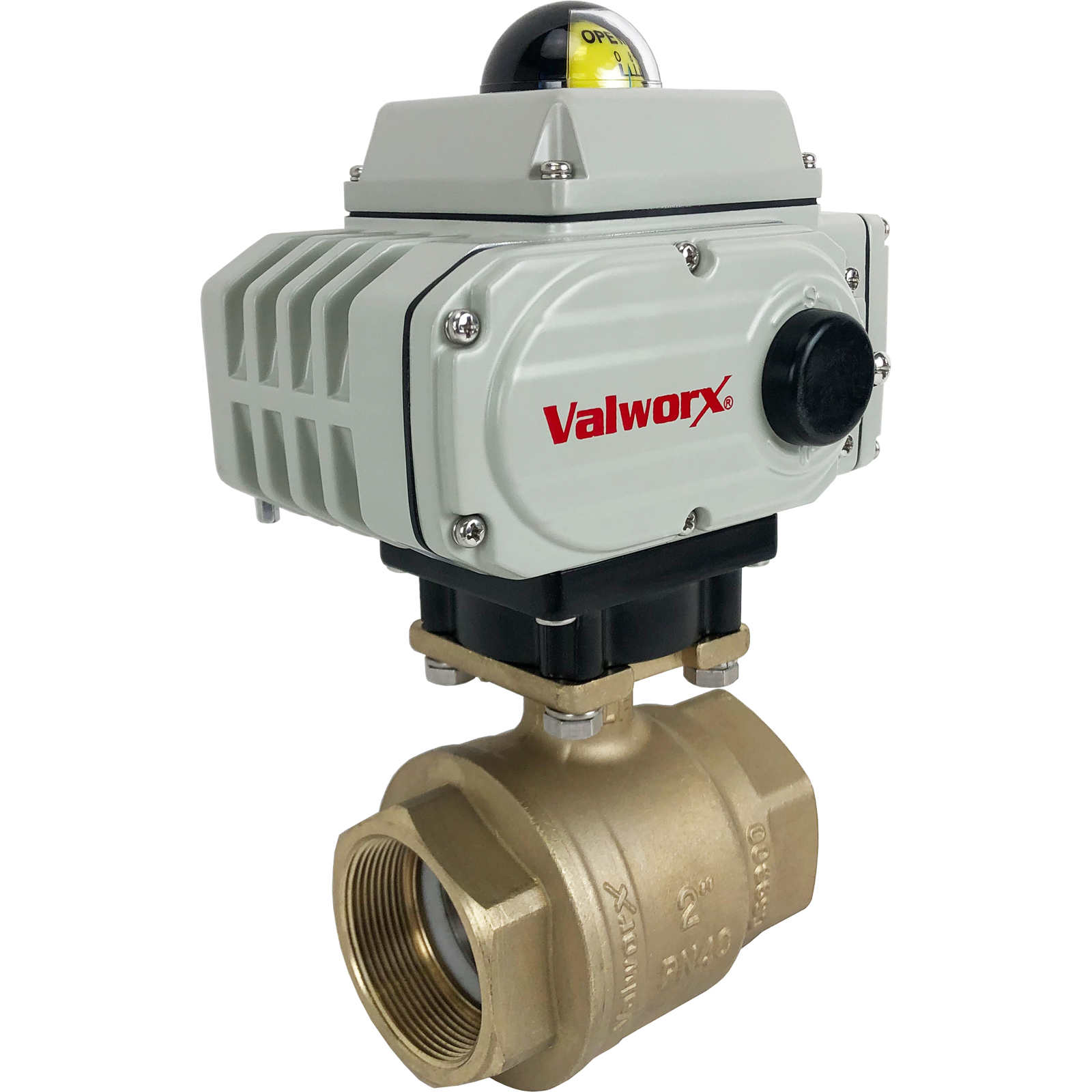 """2"""" Electric Actuated Brass Ball Valve 110 VAC"""