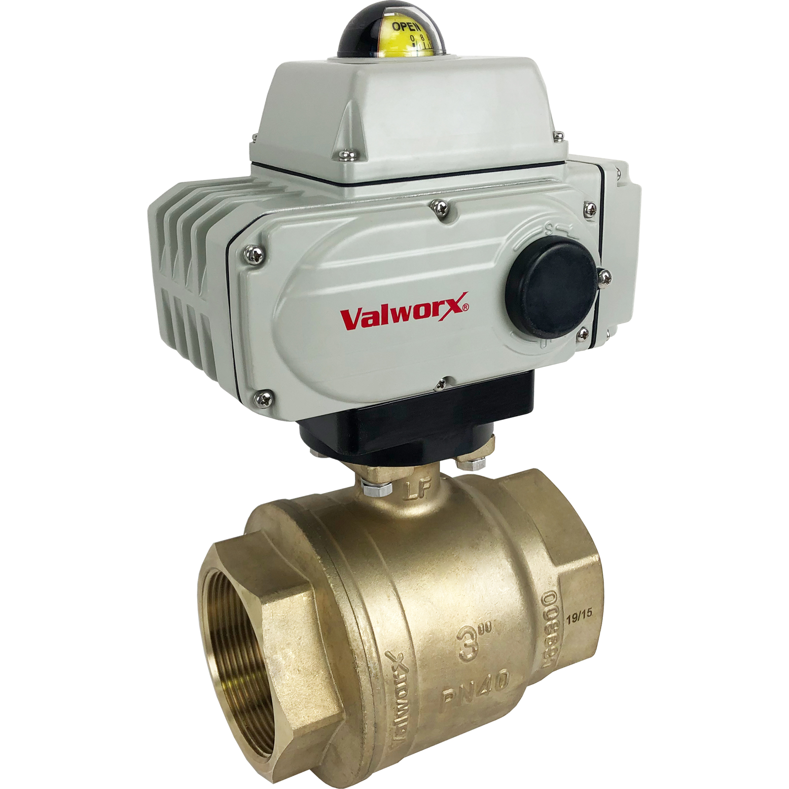 "3"" Electric Actuated Brass Ball Valve 24 VDC"