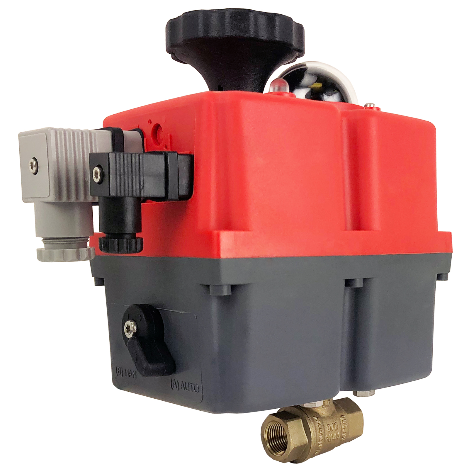 """3/8"""" Electric Actuated Brass Ball Valve 24-240V"""