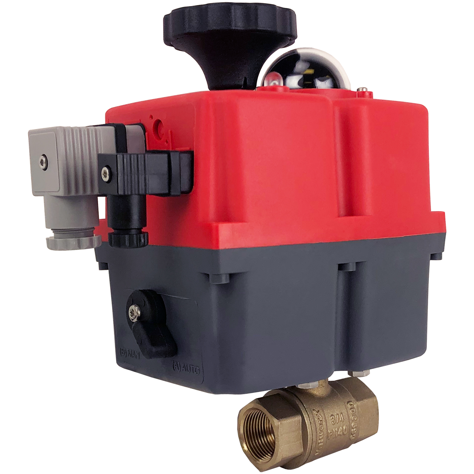 """3/4"""" Electric Actuated Brass Ball Valve 24-240V"""