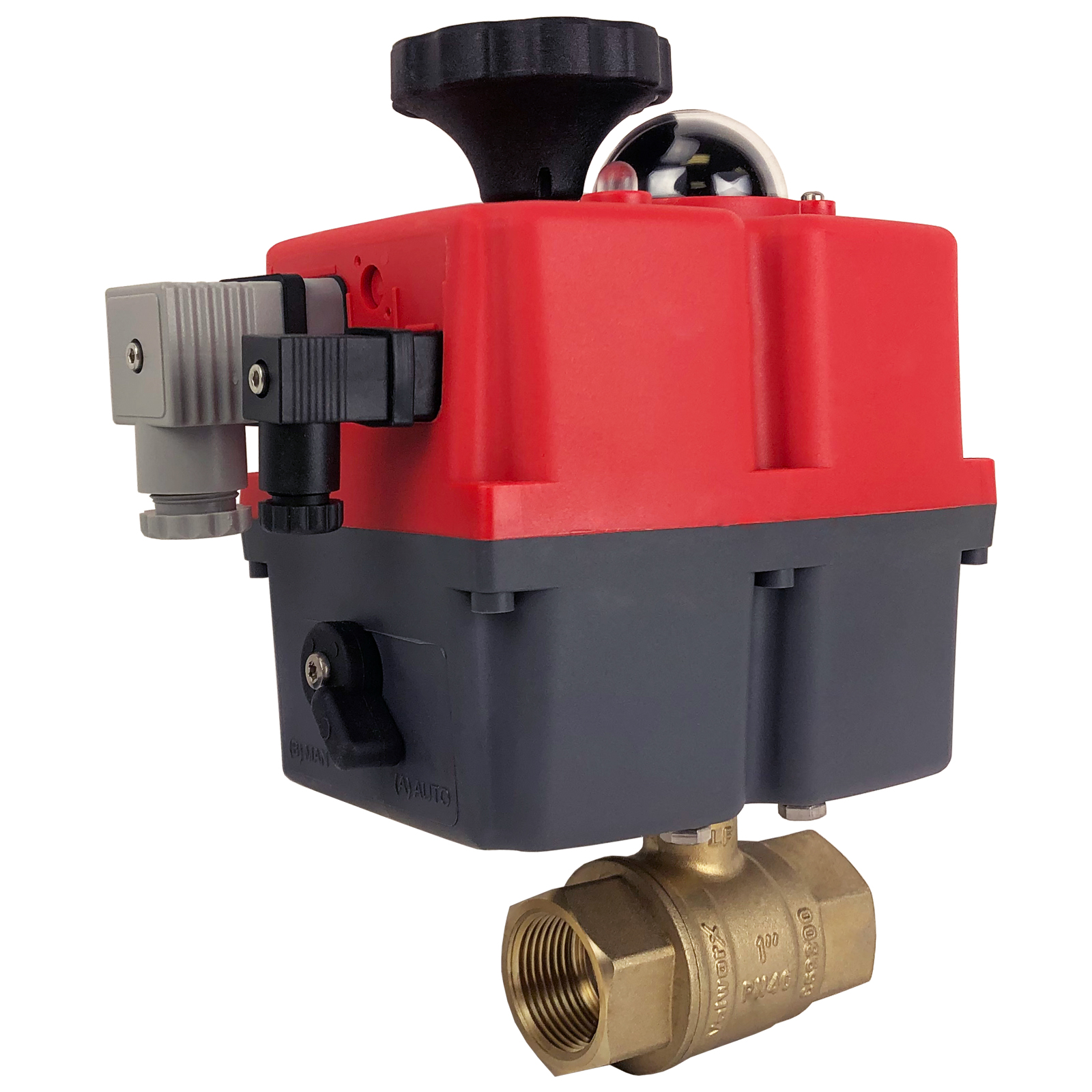 """1"""" Electric Actuated Brass Ball Valve 24-240V"""