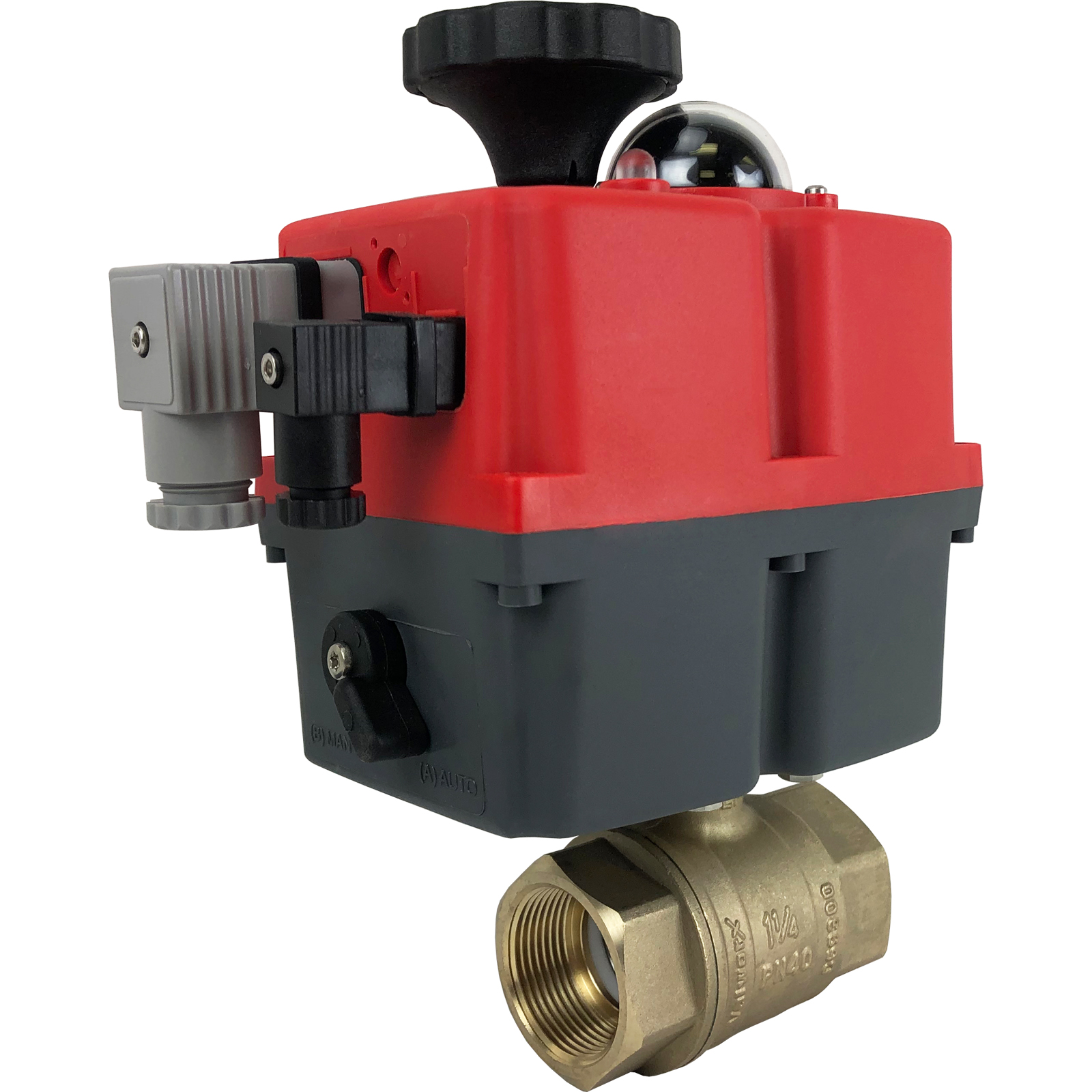 """1-1/4"""" Electric Actuated Brass Ball Valve 24-240V"""
