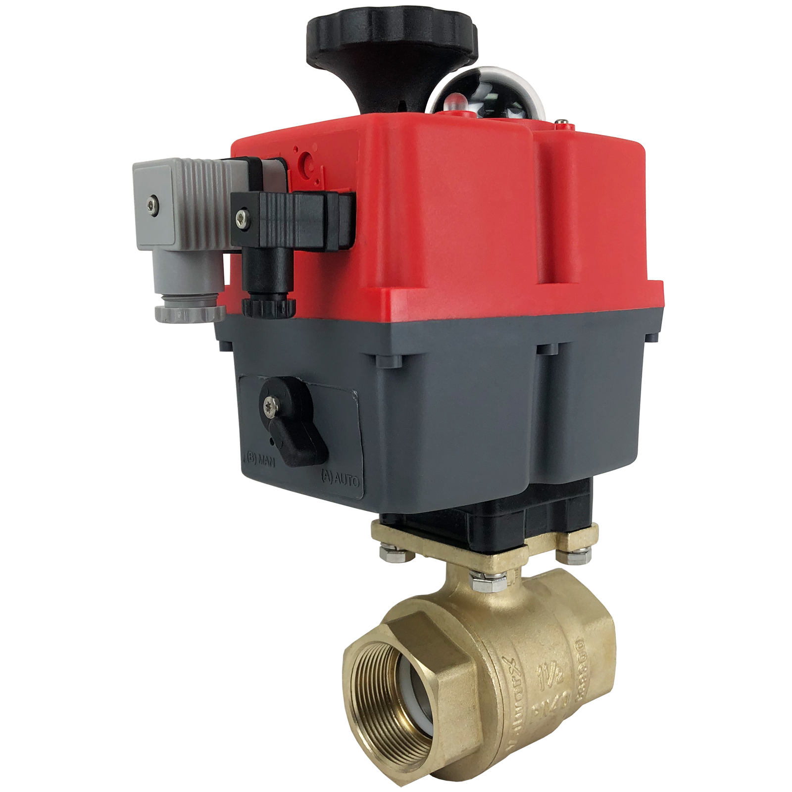 """1-1/2"""" Electric Actuated Brass Ball Valve 24-240V"""