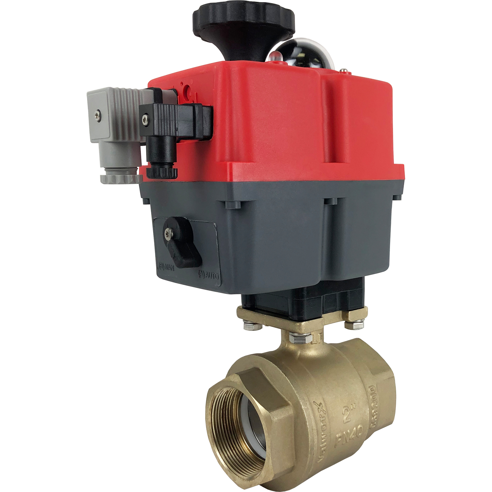 """2"""" Electric Actuated Brass Ball Valve 24-240V"""