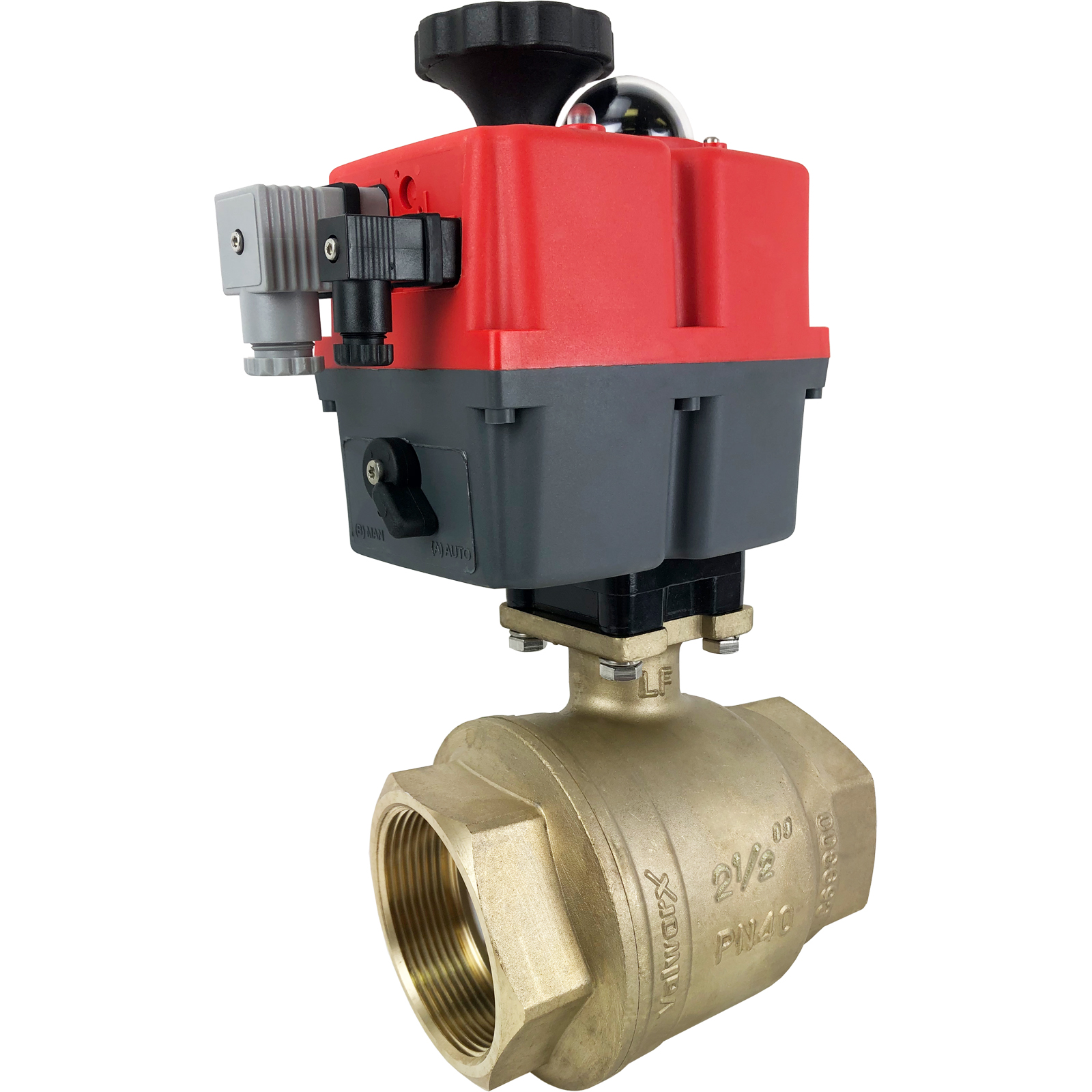 """2-1/2"""" Electric Actuated Brass Ball Valve 24-240V"""