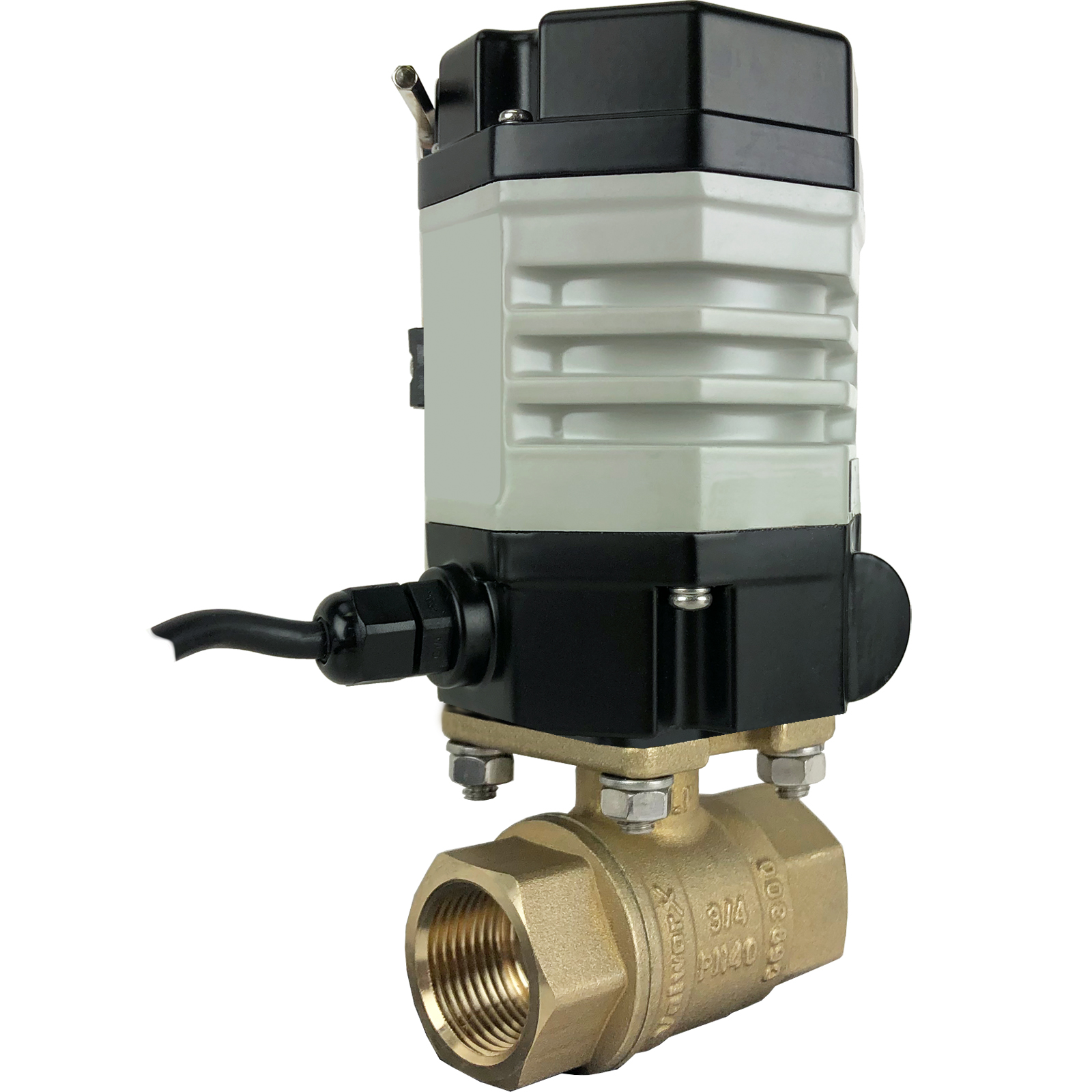 "3/4"" Compact Electric Actuated Brass Ball Valve 24 VDC"