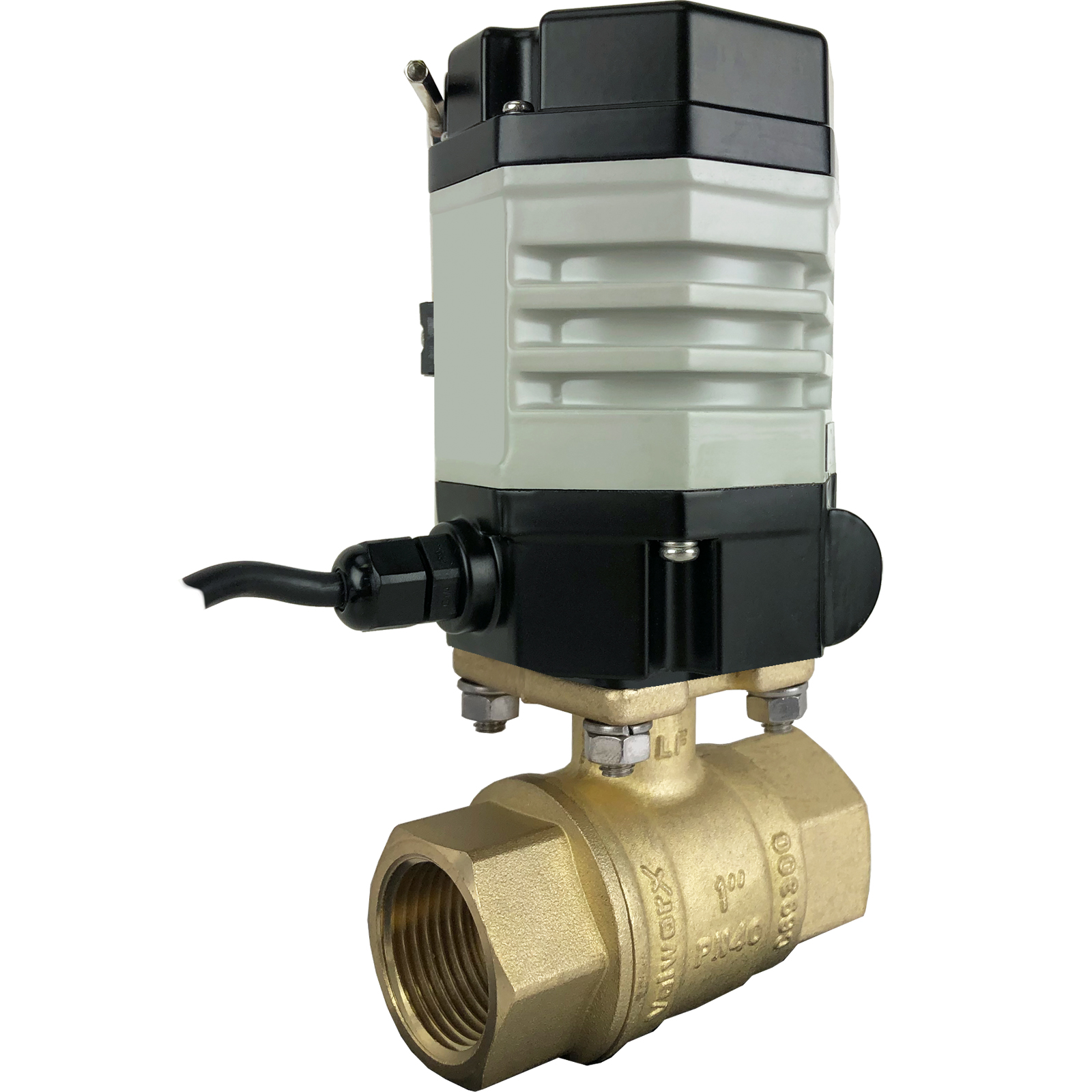 "1"" Compact Electric Actuated Brass Ball Valve 24 VDC"