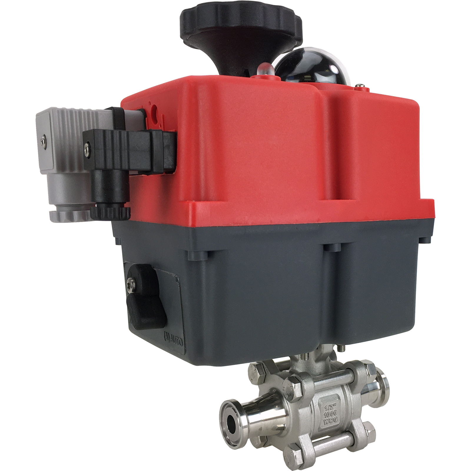 "1/2"" Sanitary Ball Valve, 24-240V, Tri-Clamp"