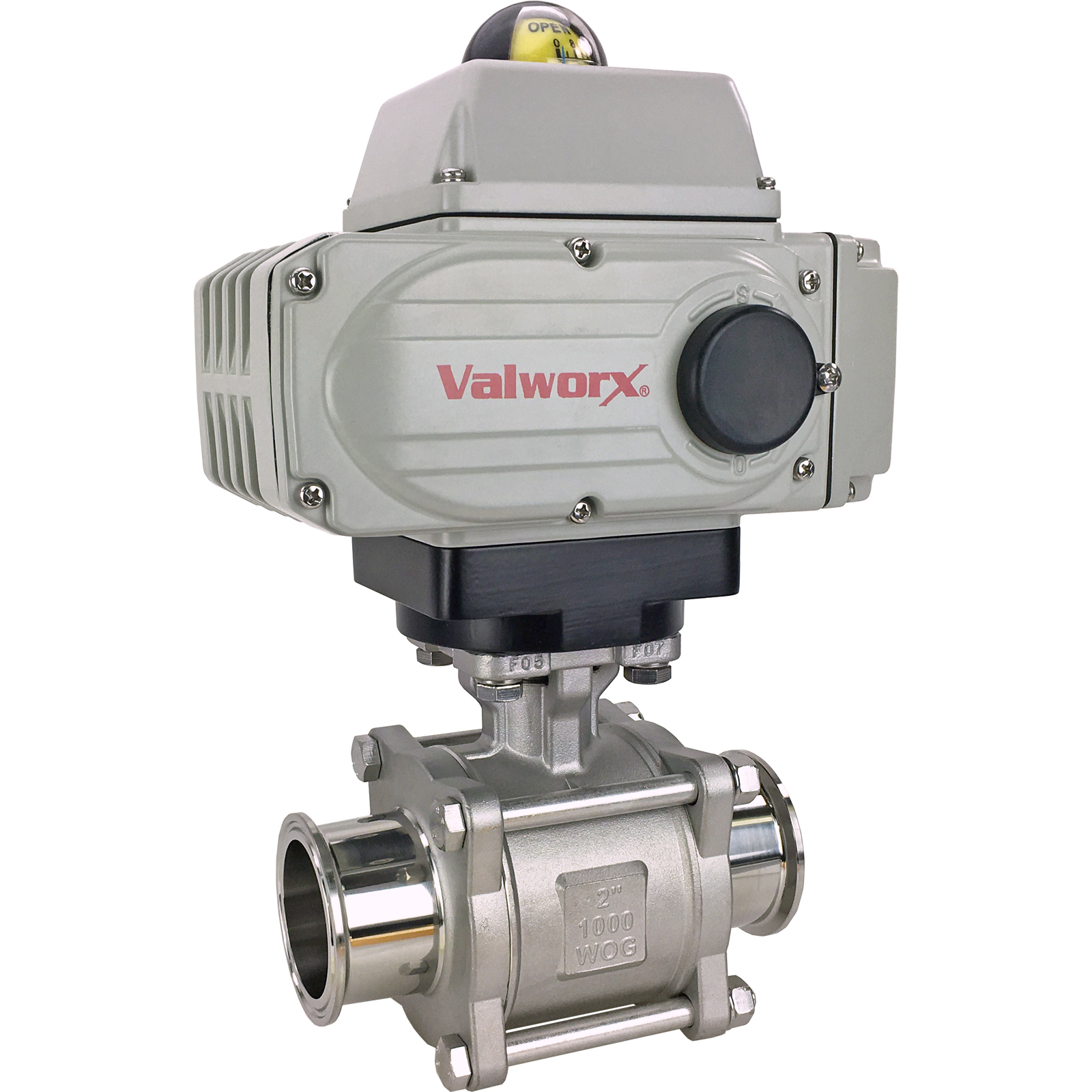 "2"" Sanitary Ball Valve, 24 VDC EPS-Positioner, Tri-Clamp"