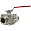 Stainless Sanitary 3-Way Ball Valves