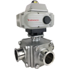 Electric Actuated 3-Way Sanitary Ball Valves