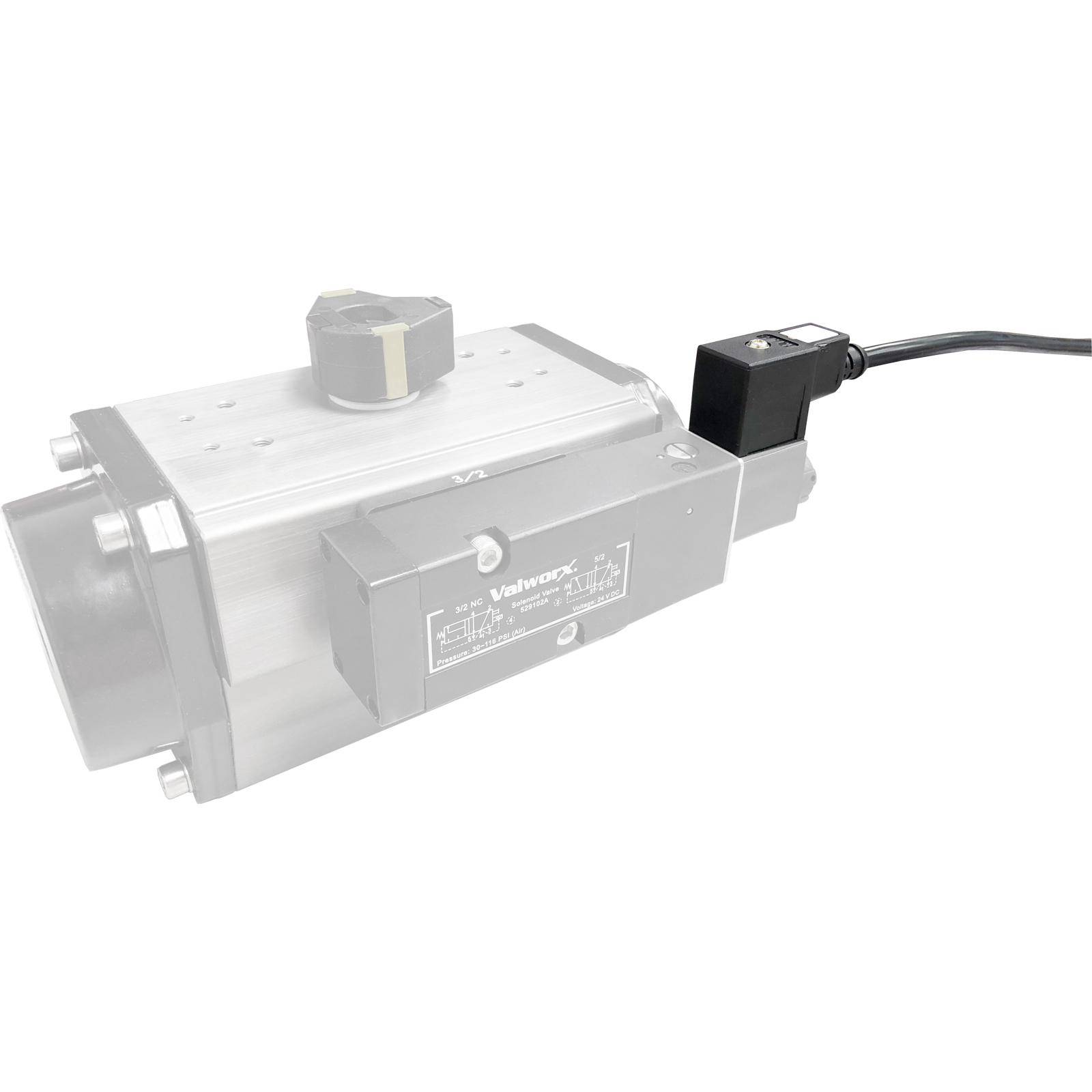 ISO DIN Plug with 16ft Cable for Solenoid Valves