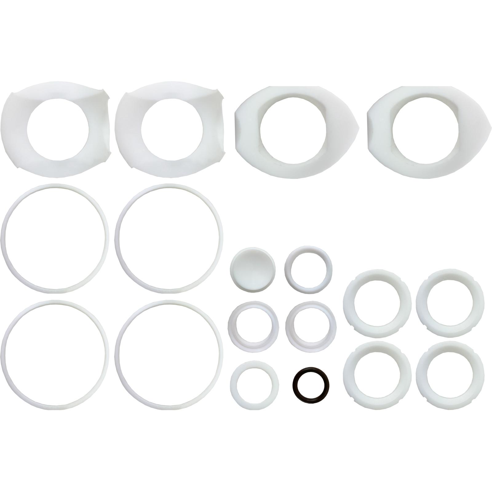 "3/4"" Sanitary Ball Valve Seal Kit, 3 Way L-Port, Cavity Filled"