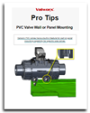 PVC Valve Wall or Panel Mounting