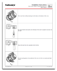 5512 PVC Valve Wall Mounting Instructions