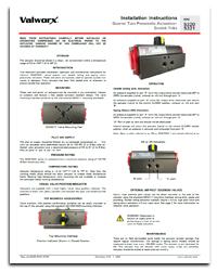 5320/5321 Series Pneumatic Actuators- Scotch Yoke