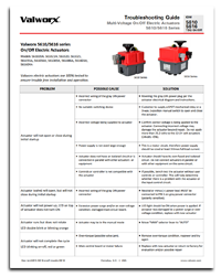 Troubleshooting - 5610/5615/5616 Series On/Off Electric Actuators
