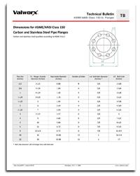 ASME/ANSI Class 150 lb. Flanges