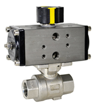 "Compact Air Actuated SS Ball Valve 1/4"" - Double Acting"