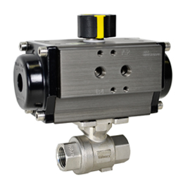 "Air Actuated Stainless Ball Valve 3/8"" - Double Acting"