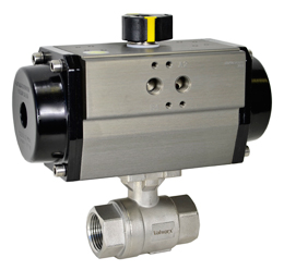 "Air Actuated Stainless Ball Valve 1-1/4"" - Spring Return"