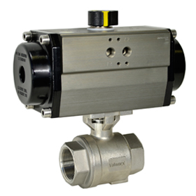 Air Actuated Stainless Ball Valve 2 - Spring Return
