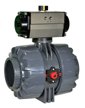"""Air Actuated PVC Ball Valve 4"""" - Double Acting"""