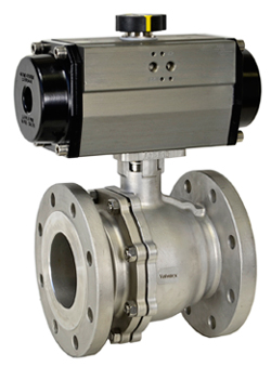 """Air Actuated 150# Flanged SS Ball Valve 4""""- Spring Return"""