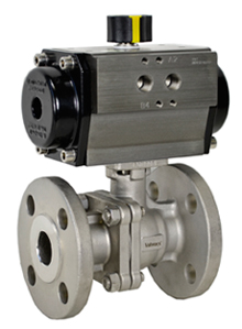 Air Actuated 150# Flanged SS Ball Valve 1- Double Acting
