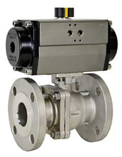"1-1/2"" Air Actuated 150# Flanged SS Ball Valve - Double Acting"